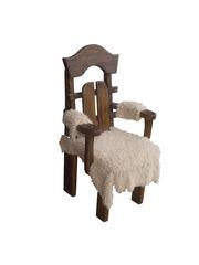 Стул-кресло деревянное