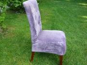 Продам фиолетовые мягкие стулья бу
