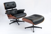 Луцьк Лаунж крісло Eames Lounge Chair and Ottoman,  Ebony Eames Lounge