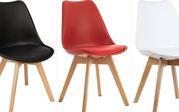 пластиковый стул Тор стул с подушечкой кожзам белый красный черный цве