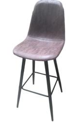 Барный стул НУБУК Н,  серый,  коричневый